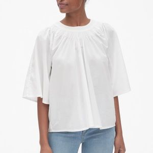 Gap Women's Pintuck Detail Blouse in WHITE
